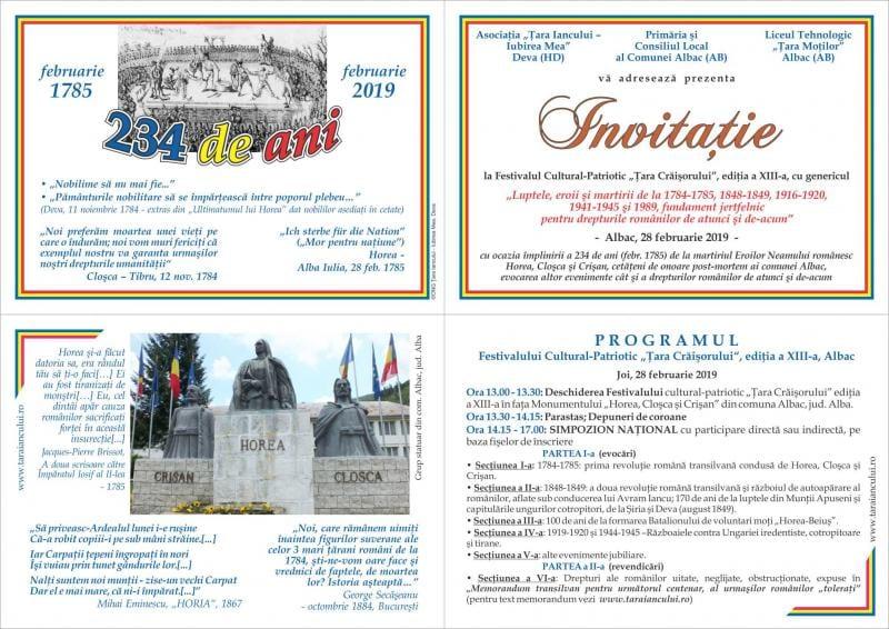 """Albac – Festivalul cultural-patriotic """"Țara Crăișorului"""" a ajuns la ediția a XIII-a"""