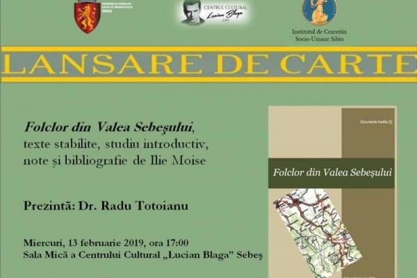 Etnologul Ilie Moise, sărbătorit cu o lansare de carte la Sebeș