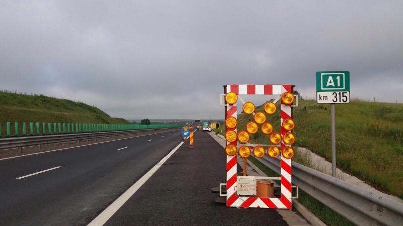 Atenție șoferi! Circulație restricționată pe un tronson din autostrada A1 Deva-Sibiu, în zona municipiului Sebeș