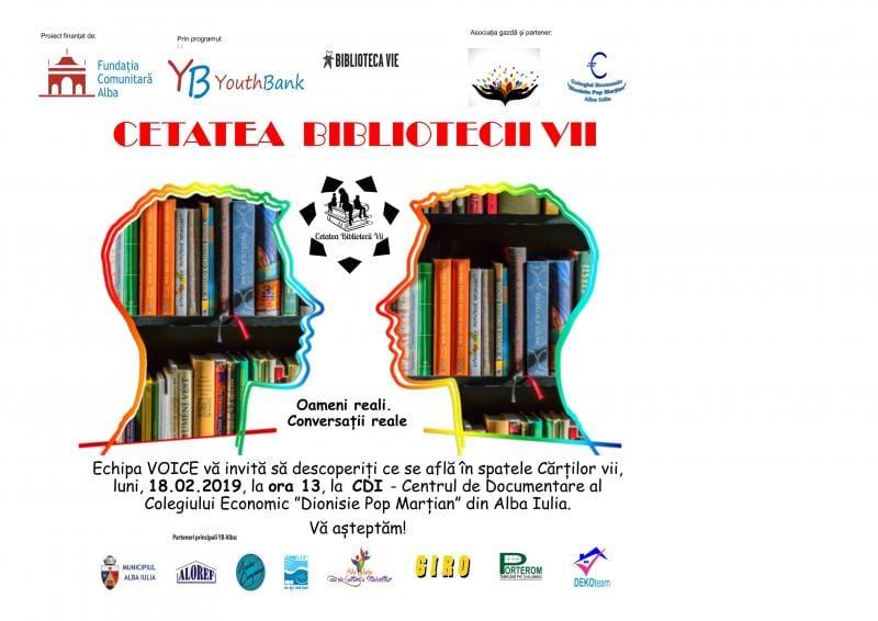 """Alba Iulia – Proiectul """"Cetatea Bibliotecii Vii"""" se lansează la Colegiul Economic """"Dionisie Pop Marțian"""""""