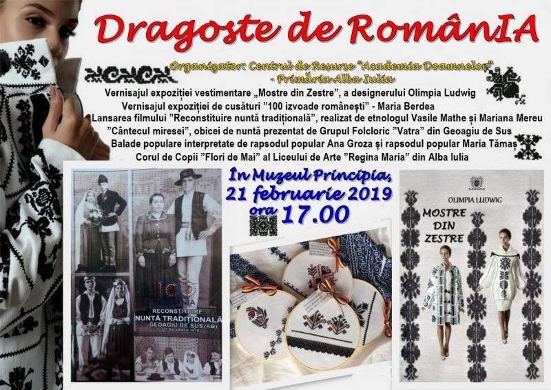 """Alba Iulia – """"Dragoste de RomânIA"""", un eveniment dedicat tradițiilor românești autentice"""
