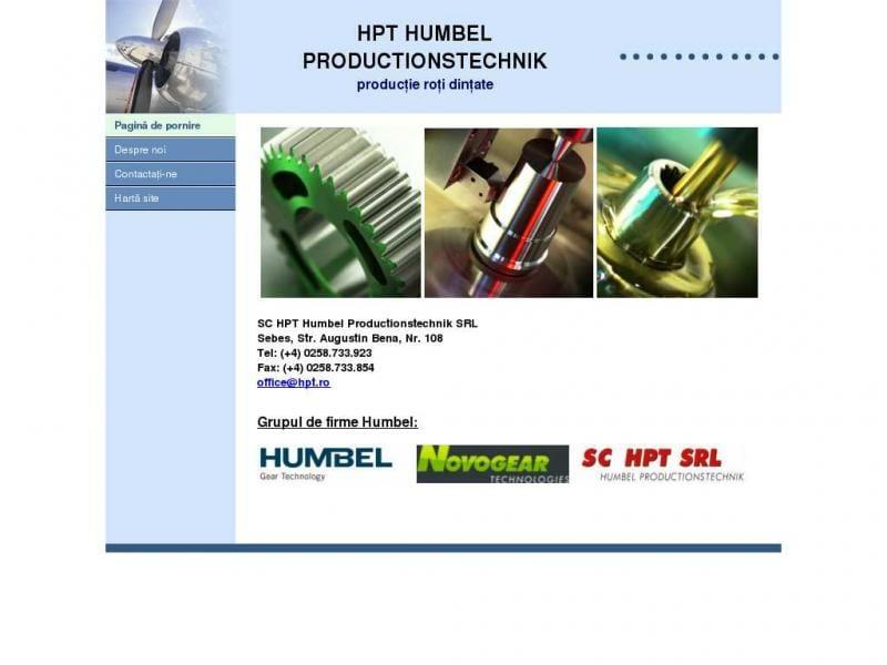 Compania elvețiană HPT Humbel SRL angajează  ingineri mecanici, operatori CNC și controlori în domeniul calității
