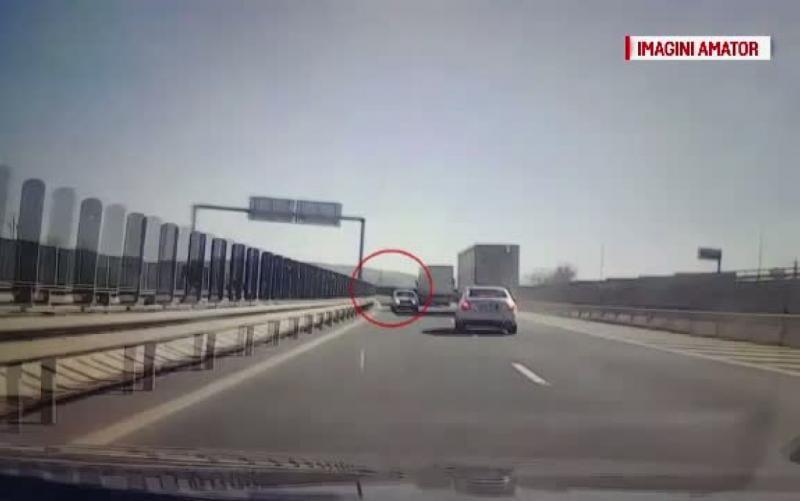 Șofer de 77 de ani, amendat și cu permisul reținut după ce a condus pe contrasens pe A1