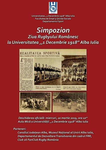 """Universitatea """"1 Decembrie 1918"""" Alba Iulia organizează simpozionul """"Ziua Rugbyului Românesc"""""""