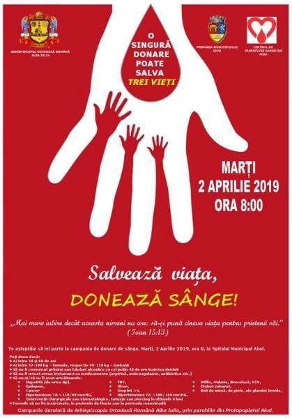 Campanie de donare de sânge la Aiud