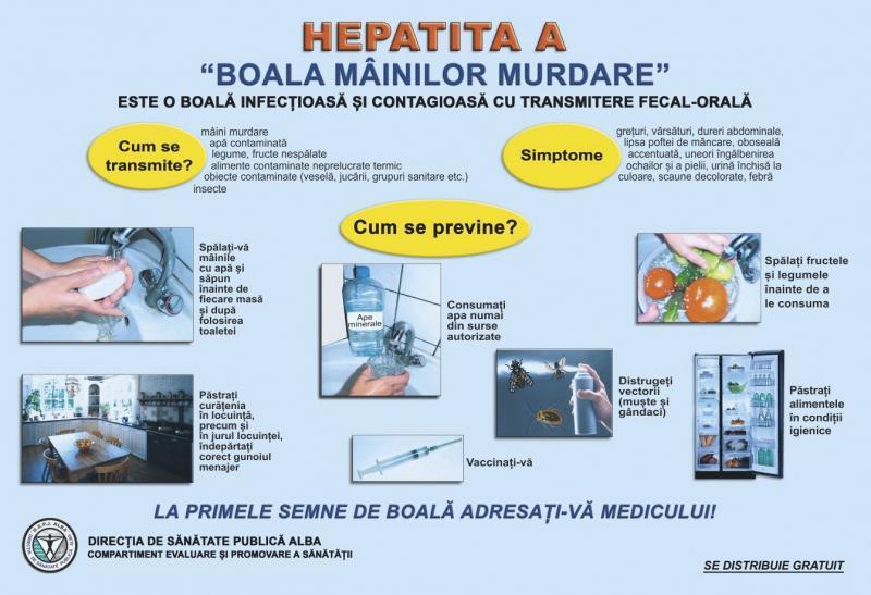 Cazuri de hepatită acută virală de tip A, înregistrate la Blaj. DSP Alba a intervenit pentru limitarea focarului