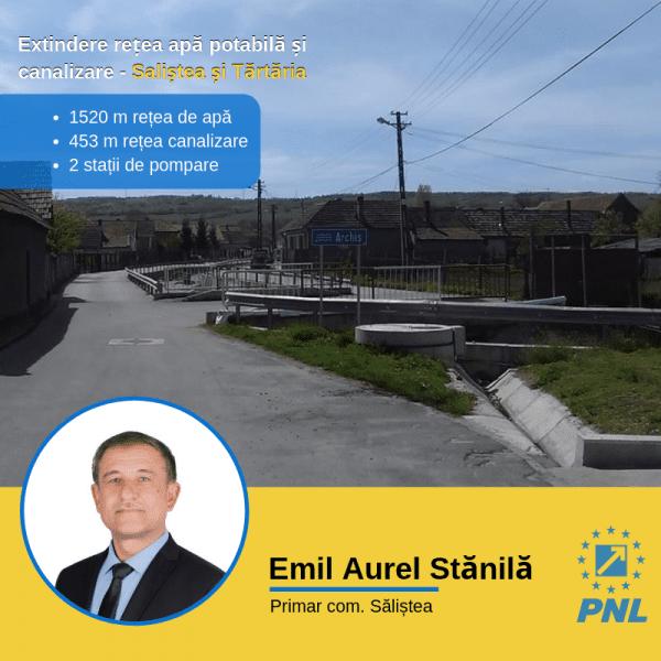 Rețelele de apă potabilă și canalizare din satele Săliștea și Tărtăria vor fi extinse