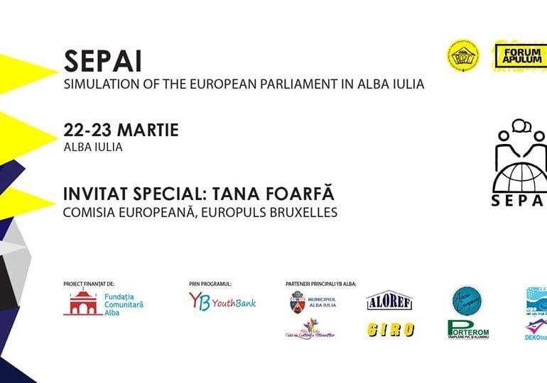 Proiectul SEPAI, o oportunitate pentru tinerii din judeţul Alba de a afla mai multe lucruri despre Parlamentul European