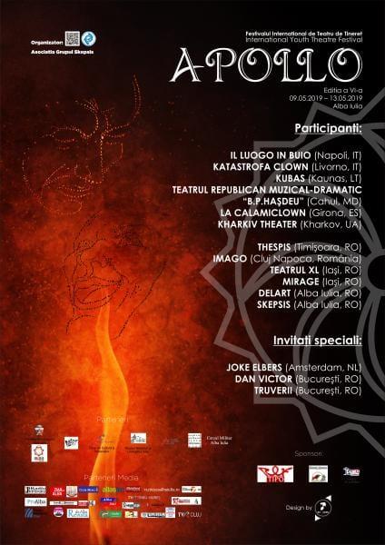 Între 9 și 13 mai, Alba Iulia va găzdui cea de-a VI-a ediţie a Festivalului Internaţional de Teatru de Tineret APOLLO