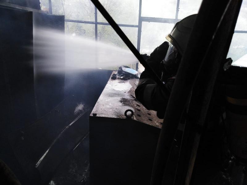 Incendiu la o stație de betoane din Mihoiești (foto)