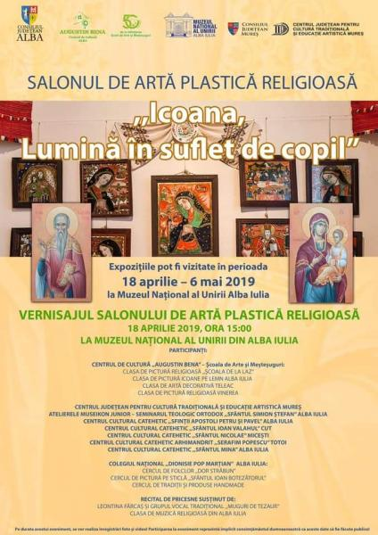 """Muzeul Unirii va găzdui salonul de artă plastică religioasă """"Icoana, Lumină în suflet de copil"""""""