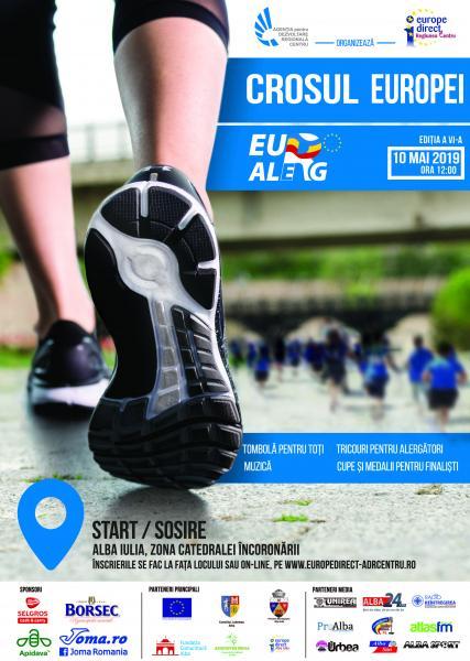 ADR Centru organizează în data de 10 mai cea de-a șasea ediție a Crosului Europei