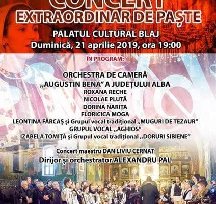 Blaj - Concert extraordinar de Paște, la Palatul Cultural