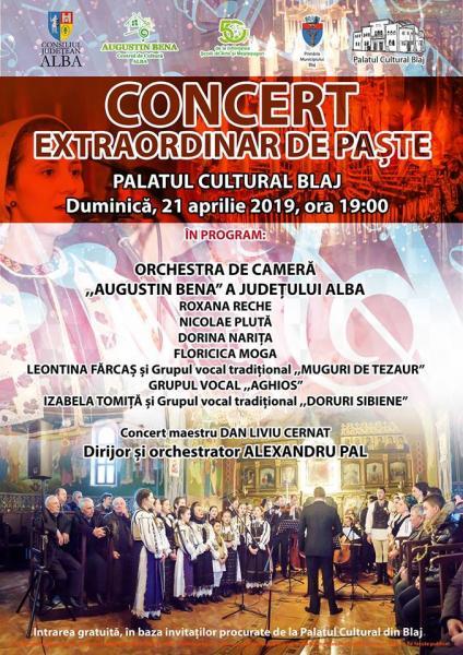 Blaj – Concert extraordinar de Paște, la Palatul Cultural