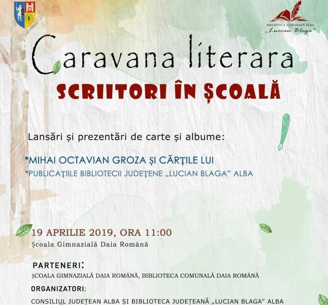 Caravana literară a scriitorilor în școală poposește la Școala Gimnazială din Daia Română