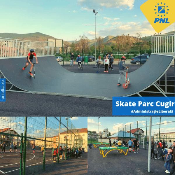 Cugir – Primăria a inaugurat un skate park cu acces gratuit