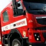Un incendiu a izbucnit la un utilaj industrial și de construcții din localitatea Pianu de Jos