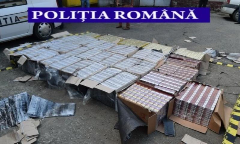 Cantități industriale de tutun și țigarete de contrabandă confiscate de Poliția Română în prima parte a anului 2019