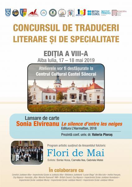 Între 17 și 18 mai, Alba Iulia găzduiește a VIII-a ediție a  Concursului național de traduceri literare şi de specialitate pentru studenți și elevi