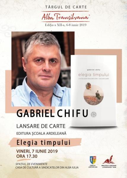 "Poetul Gabriel Chifu, prezent la Târgul de Carte ""Alba Transilvana"" de la Alba Iulia"