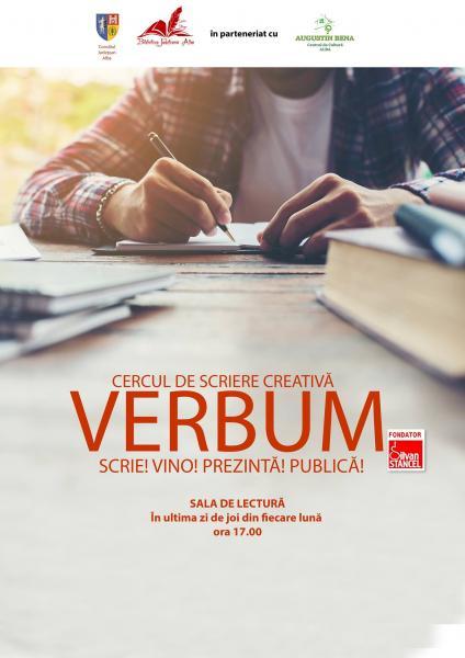 """Clubul de lectură """"LecturAlba"""" și Cercul de scriere creative """" Verbum"""" se reunesc la Biblioteca Județeană """"Lucian Blaga"""" Alba"""