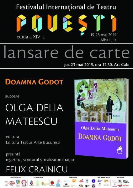 """Scriitoarea Olga Delia Mateescu își lansează cartea """"DOAMNA GODOT"""" la Alba Iulia"""