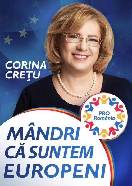 "Corina Crețu: ""PRO România reprezintă adevărata social-democrație!"""