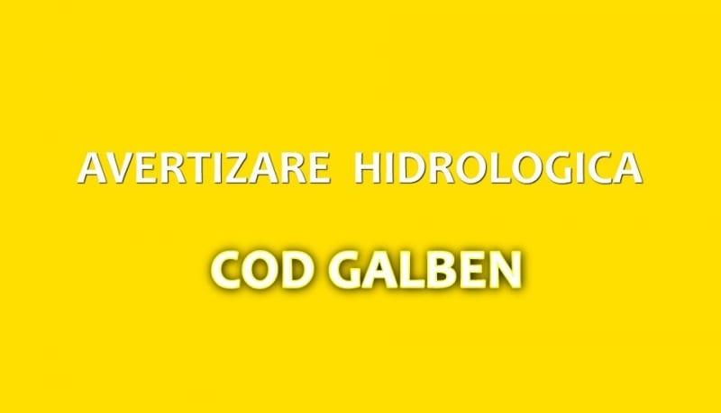 ANM a emis încă o avertizare HIDRO COD GALBEN