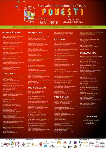 """Alba Iulia – Programul complet al Festivalului Internațional de Teatru """"Povești"""", ediția a XIV-a"""