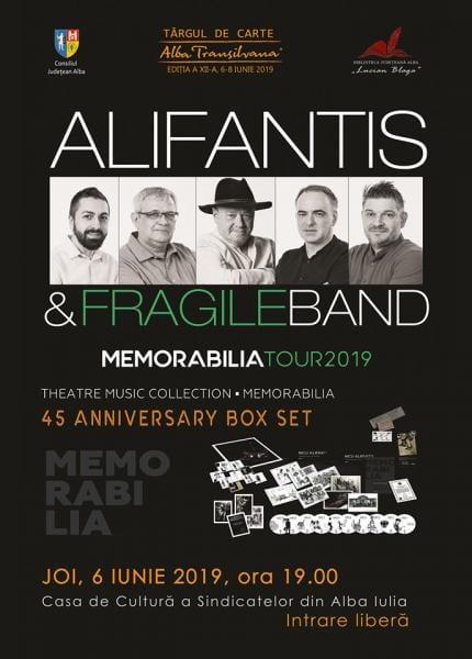 """Joi, 6 iunie, Nicu Alifantis va prezenta publicului spectacolul """"Memorabilia"""" la Târgul de Carte Alba Transilvana"""