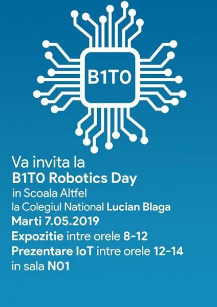 """Sebeș – Clubul de Robotică al Colegiului Național """"Lucian Blaga"""" organizează """"B1T0 Robotics Day"""""""