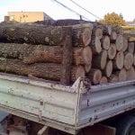 Șofer de autoutilitară din Vadu Moților, prins de polițiști în timp ce transporta 3,3 mc de lemn fără acte legale