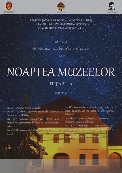 """Muzeul Municipal """"Ioan Raica"""" din Sebeș va fi deschis gratuit pentru vizitatori sâmbătă, 18 mai, cu ocazia evenimentului anual """"Noaptea Muzeelor"""""""