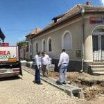Sebeș - Lucrările de reabilitare a străzii Crișan avansează (foto)