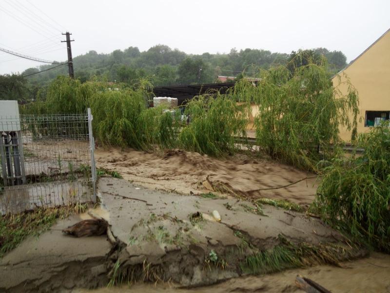 Bilanțul inundațiilor din județul Alba la ora 20.30 (foto)