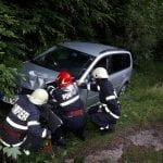 Cîmpeni - O femeie a intrat cu mașina într-un zid de beton în apropiere de barajul de la Mihoiești (foto)