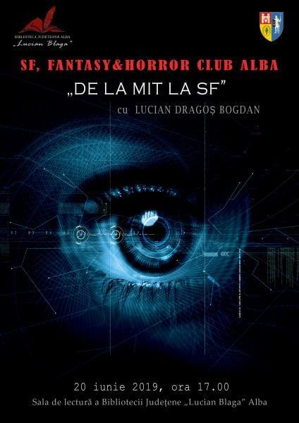 "În luna iunie, la Biblioteca Județeană ,,Lucian Blaga"" Alba – SF, Fantasy & Horror Club Alba"