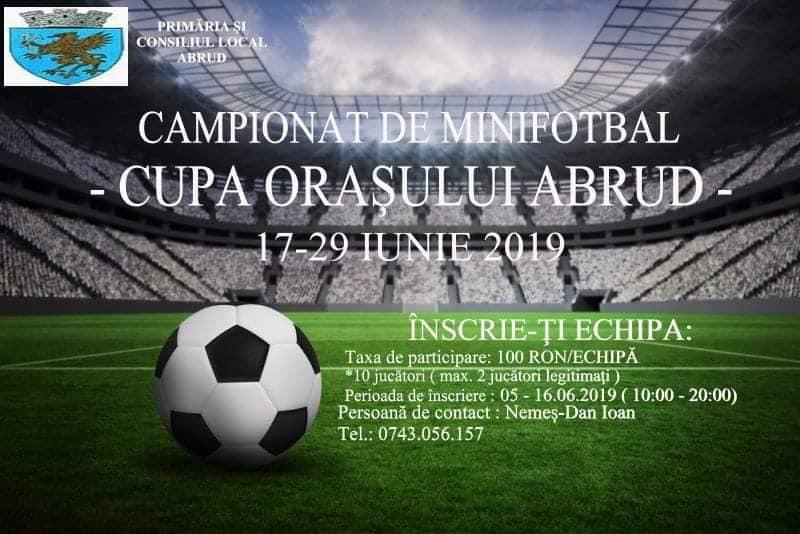 """""""Cupa orașului Abrud"""" la minifotbal"""