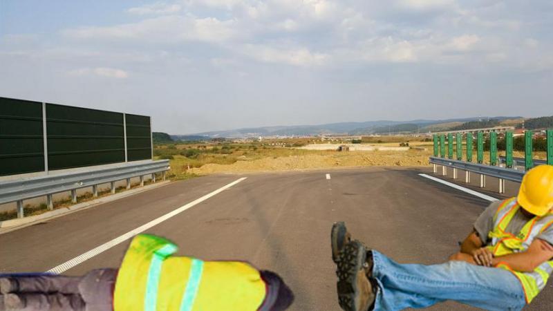 Accident teribil pe Autostrada Transilvania: muncitorii au fost loviți de somn!