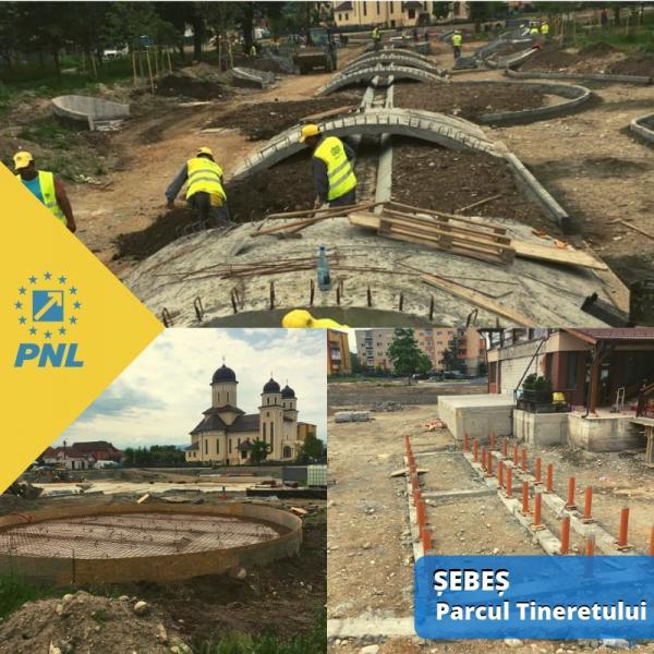 Stadiul lucrărilor de reamenajare a Parcului Tineretului din Sebeș (foto)
