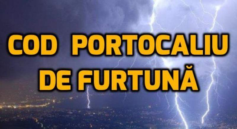 Avertizare Cod Portocaliu de vreme rea pentru sudul județului Alba, emisă de ANM