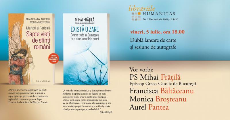 Eveniment cultural – Dublă lansare de carte la Alba Iulia