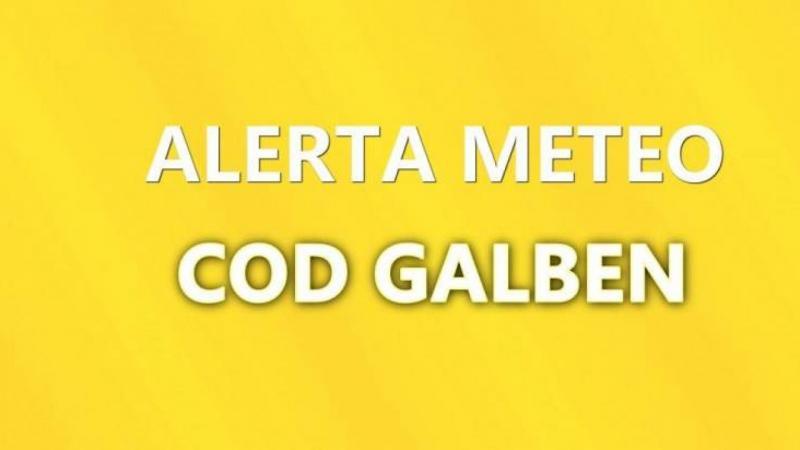 ANM – Avertizare COD GALBEN pentru mai multe localități din județul Alba