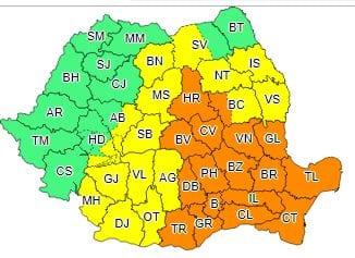 ANM a prelungit avertizarea COD GALBEN de instabilitate atmosferică pentru județul Alba