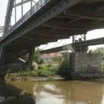 Alba Iulia - Lucrări de reparații la podul de peste râul Mureș