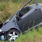 Scărișoara - O șoferiță imprudentă a ajuns cu mașina în afara părții carosabile