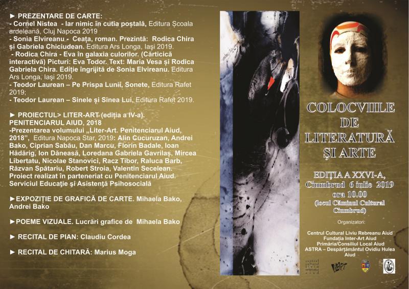 """Căminul Cultural din Ciumbrud va găzdui ediția a XXVI-a a evenimentului""""COLOCVIILE DE LITERATURĂ ŞI ARTE"""""""