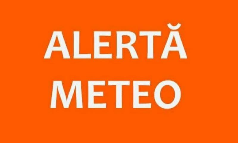 ANM – Mai multe localități din județul Alba au primit avertizare COD PORTOCALIU de averse și descărcări electrice