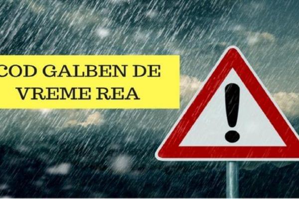 Avertizare Cod Galben pentru mai multe localități din județul Alba