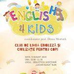 """Clubul ''English 4 Kids'', un nou proiect educațional al Bibliotecii Județene """"Lucian Blaga"""" Alba"""